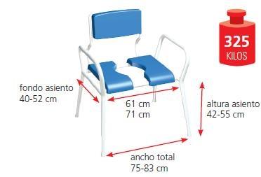 Silla XL FIJI, Hasta 325 kg Resistente y Ligera 2