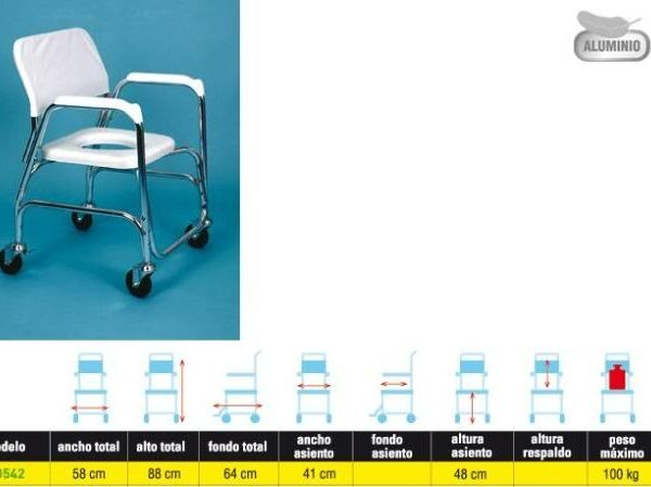 Silla para Ducha y WC, Solución Económica, tabla