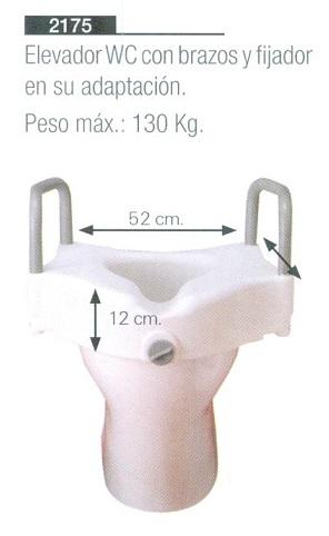 Asiento Con Reposabrazos Para Inodoro. En Su Adaptación. Prevenir accidentes domésticos. Mejorar el acceso al inodoro.