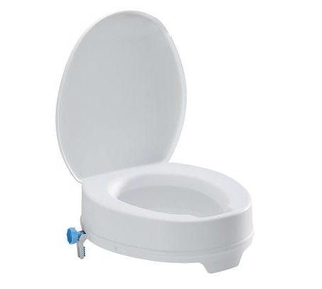 Elevador TSE-EASY 10 WC Con Tapa De B+B Iberia. Soporta hasta 200 kg. de peso. Garantiza discrección e higiene.