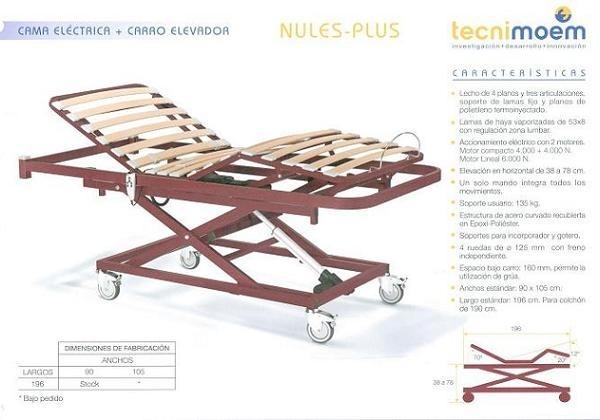 2. Cama eléctrica Nules Plus