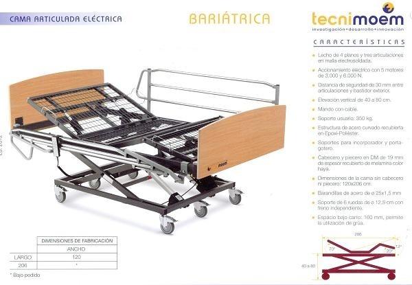Cama Bariátrica Tecnimoem, con barandillas y piecero - 2