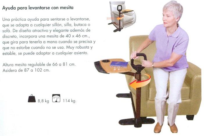 Ayuda Para Levantarse Con Mesita. Assist-A-Tray De STANDER. Práctica ayuda para sentarse o leventarse.