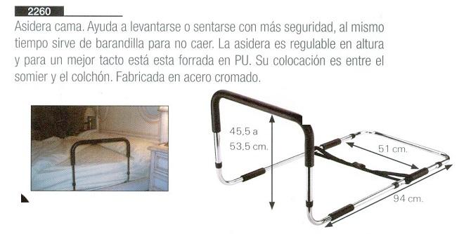 Asidero De Incorporación Para Cama, Barandilla. Leventarse o sentarse con más seguridad, asidera es regulable en altura.