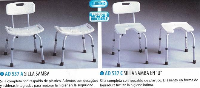 silla de ducha samba modelos