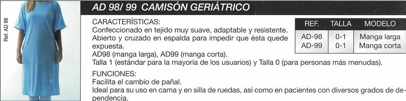 Camisón Geriátrico Manga Larga.