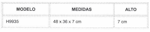 tabla de medidas almohada
