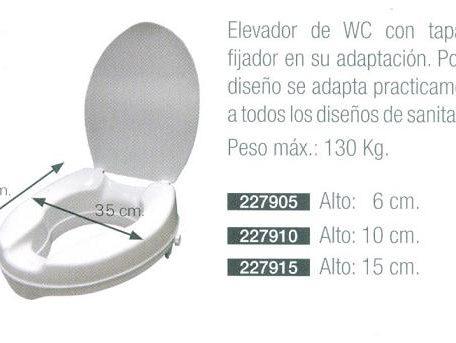 Alza Inodoro Con O Sin Tapa. MEDIDAS: 6, 10 ó 15 cm. Fijador en su adaptación.