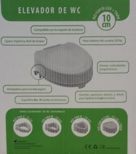 Asientos para inodoros Con Tapa. MEDIDAS: 5, 10 ó 15 cm. Seguro y eficaz. Que resiste olores.