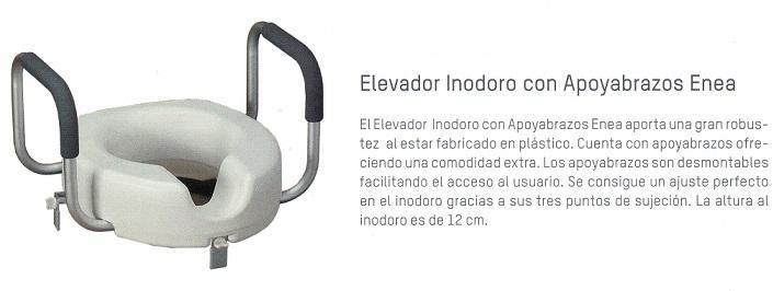 Elevador Asiento Inodoro. 12 cm. alto. Fácil instalación. Apoyabrazos desmontables.