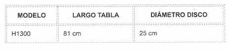 Medidas tabla transferencia