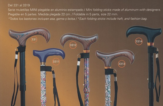 MINI folding aluminum cane
