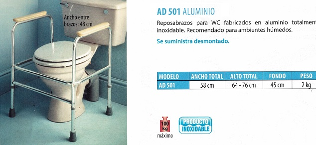 Reposabrazos Auxiliares De Aluminio