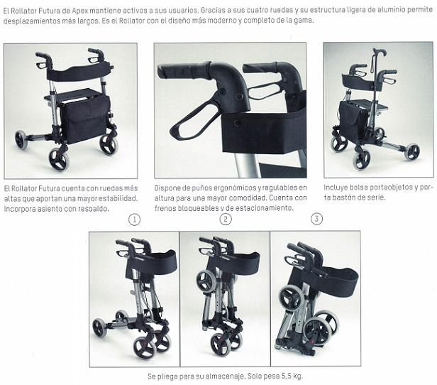 Futura: un andador plegable, seguro y muy ligero