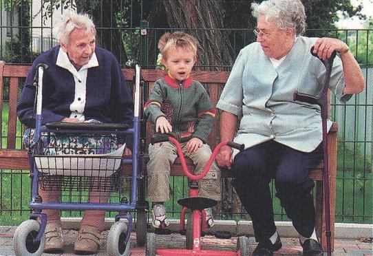 andadores y las abuelas Asister