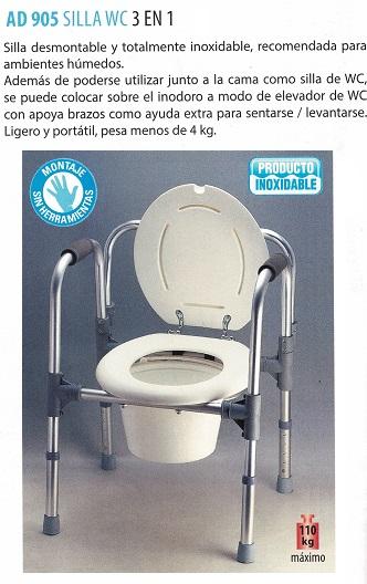 Silla WC 3 En 1
