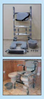 silla de transporte con inodoro
