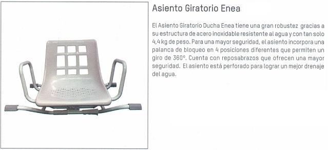 Asiento Giratorio de Bañera ENEA INOXIDABLE