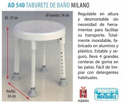 Taburete de baño 'Milano'