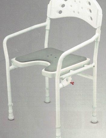 silla de ducha plegable