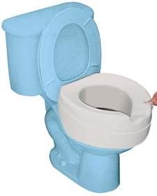 Alza inodoro CONTACT PLUS XXL BLANDO. Hasta 185 kg. Higiénico y Protege Contra las Bacterias.