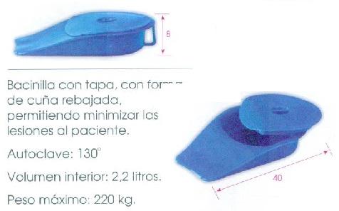 Cuña Con Tapa. Permitiendo minimizar las lesiones al paciente