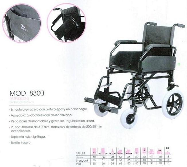 Silla de Ruedas de Acero 8300