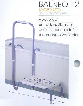 Apoyo De Bañera Entrada Salida BALNEO 2