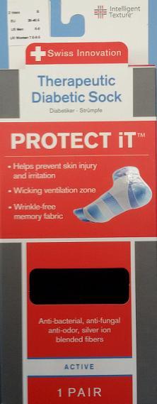 Calcetín Para Diabéticos ACTIVE. Modelo: Corto. Garantizan protección antibacteriana.