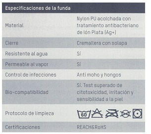 especificaciones de la funda domus