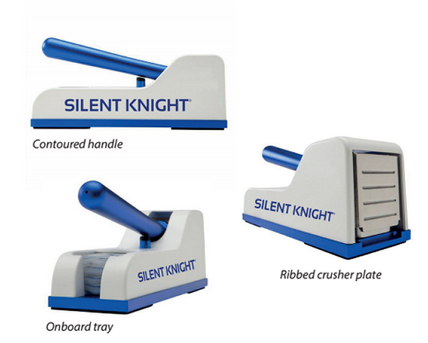 Triturador De Pastillas SILENT KNIGHT. Utilización sencilla, compacto y práctico.