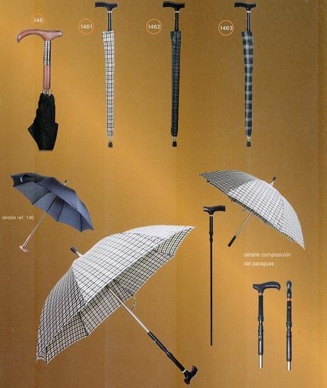 Muletilla Con Paraguas Regulable En Altura