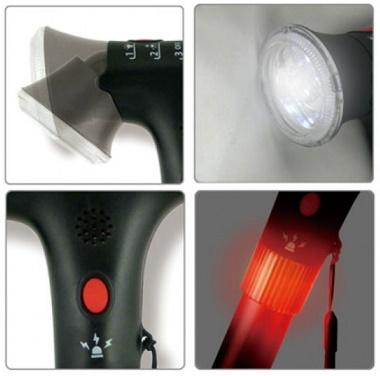 Bastón Plegable o Extensible Con Luz y Alarma