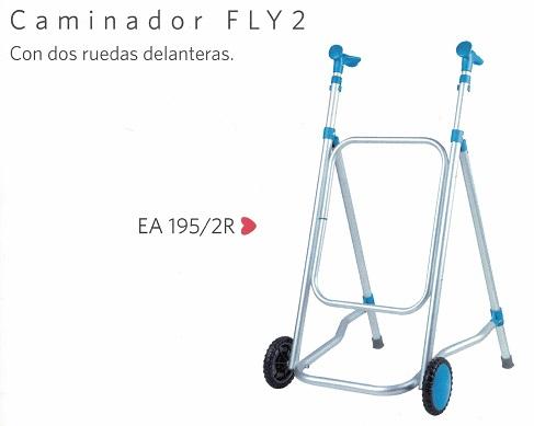 Caminador de Aluminio Con Dos Ruedas Fly 2