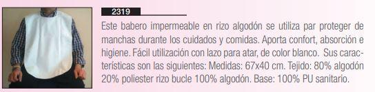 Babero Impermeable En RIZO