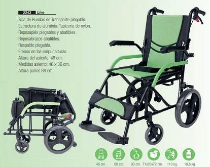 Silla de Ruedas De Viaje y Transporte Plegable LIVE