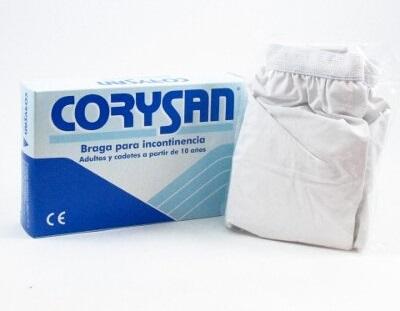 embalaje de braga para incontinencia corysan