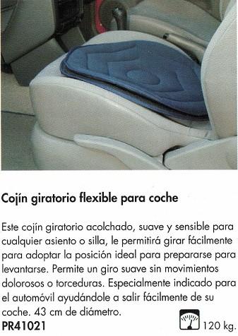 Cojín Giratorio Flexible Para Coche. Permite un giro suave sin movimientos dolorosos.