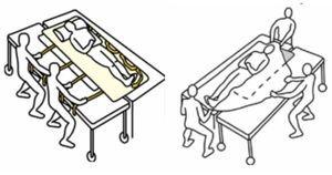 sábanas para transferencias