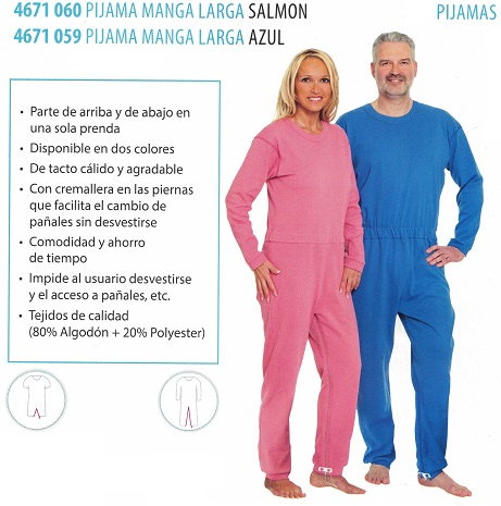 Pijamas Manga Larga Varias Tallas Y Colores. Impide al usuario manipular productos.