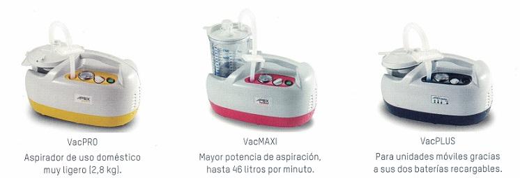 modelos vac series de APEX Medical