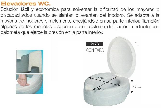Elevador Suave WC Sin O Con Tapa 12 cm. Se adapta a la mayoría de los inodoros.