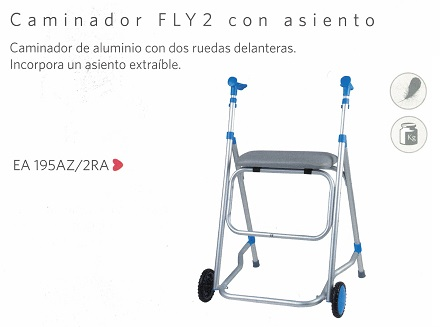 Caminador FLY2 Con Asiento y 2 Ruedas