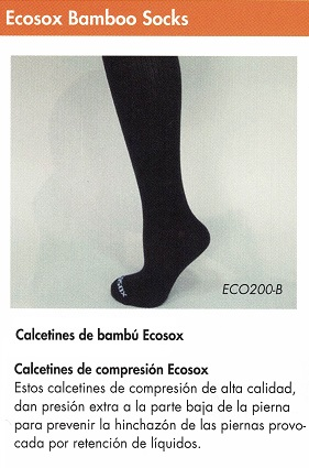 Calcetines De Compresión ECOSOX Bambú. Contrarrestar la acumulación de líquidos (EDEMA).