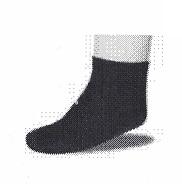 Calcetín Puño Canalé Expansible. Para linfedema y tobillos gruesos.