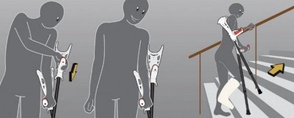 Muleta De Apoyo Comfort FDI Crutches. UNIDAD o PAR. Diseño singular.