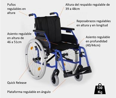 Características GADES GAP. Ligera de aluminio.