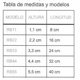 tabla de medidas mini rampa. rubber ramps