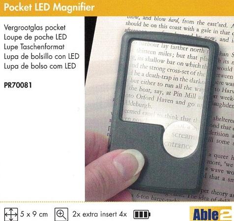 Lupa de Bolsillo Con Luz LED. Ideales para el día a día.