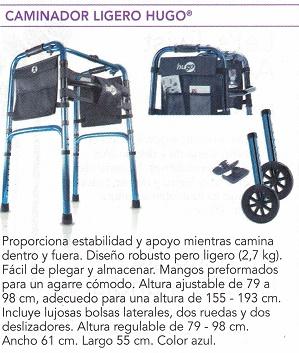 Caminador Hugo Plegable y Ligero.